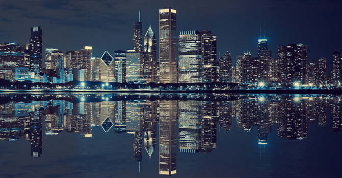 CHI Night Skyline